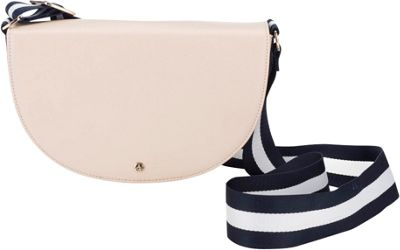 Chic Buds Jenny Charging Crossbody Blush Crème - Chic Buds Leather Handbags