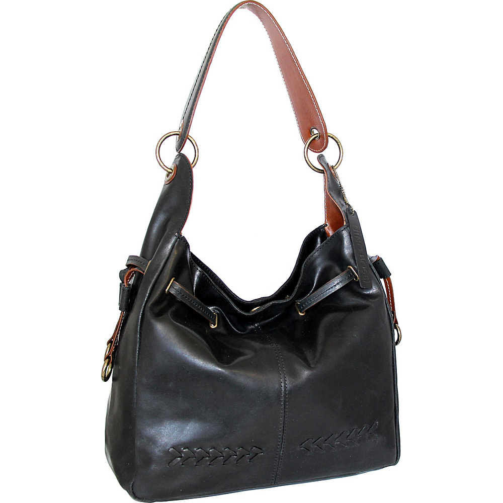 Nino Bossi Sylvie Shoulder Bag Black - Nino Bossi Leather Handbags - Handbags, Leather Handbags