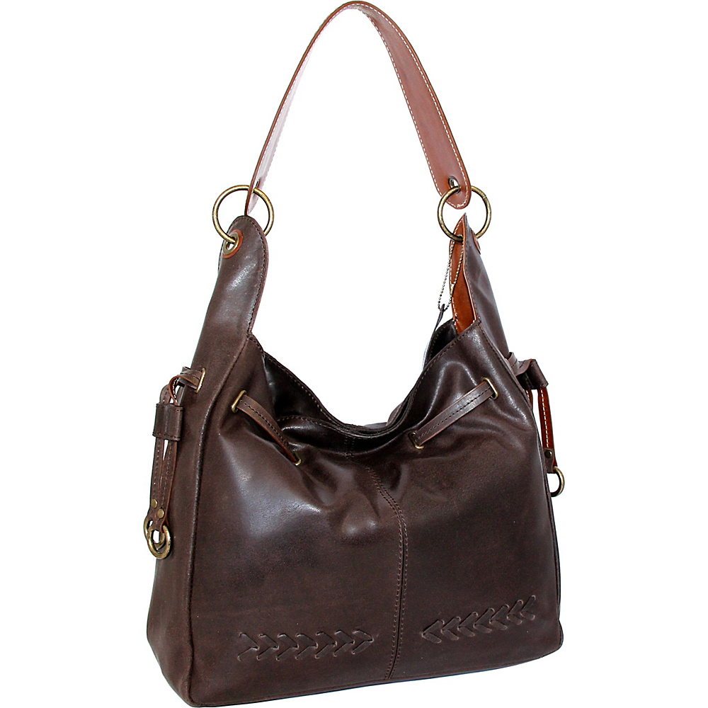 Nino Bossi Sylvie Shoulder Bag Chocolate - Nino Bossi Leather Handbags - Handbags, Leather Handbags