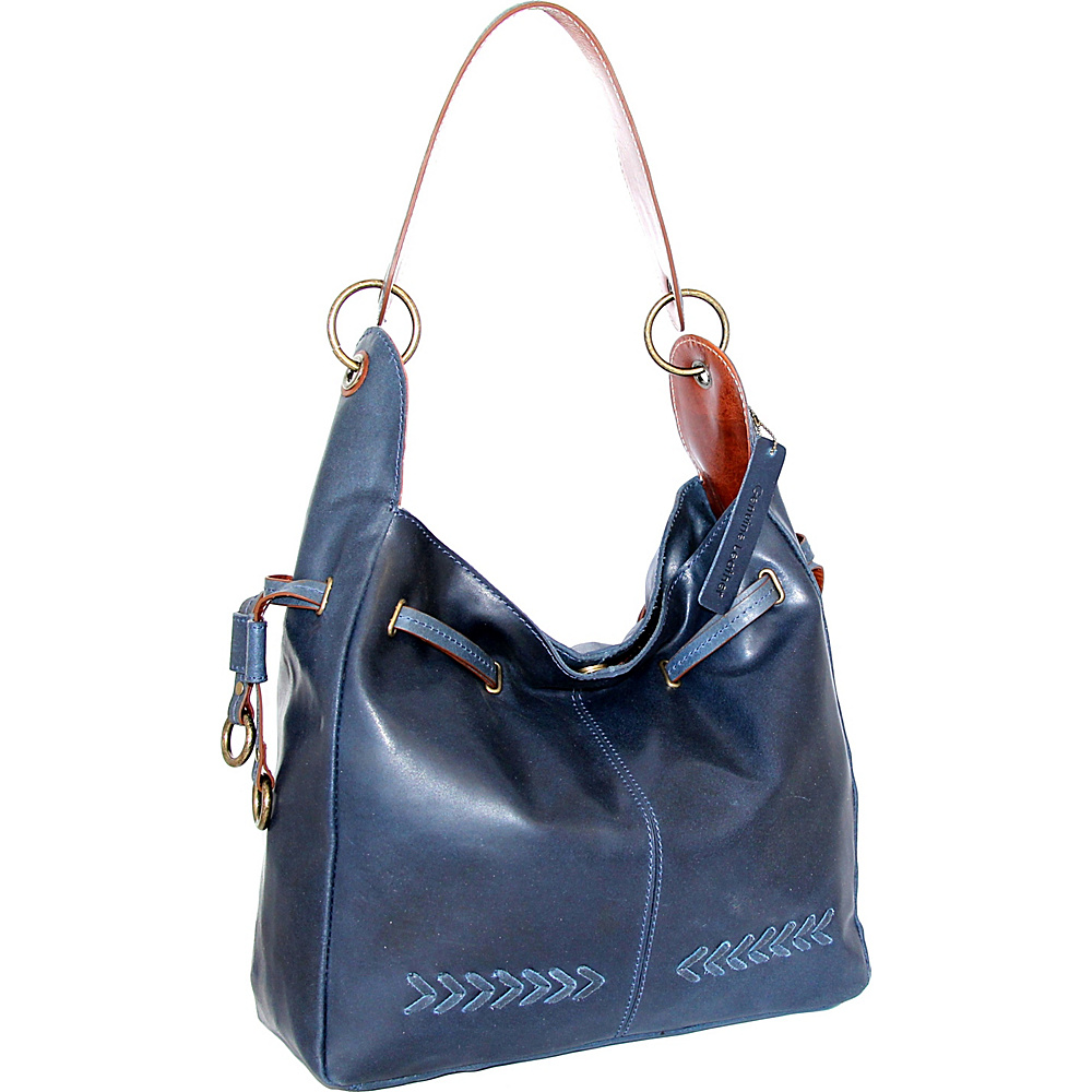 Nino Bossi Sylvie Shoulder Bag Denim - Nino Bossi Leather Handbags - Handbags, Leather Handbags