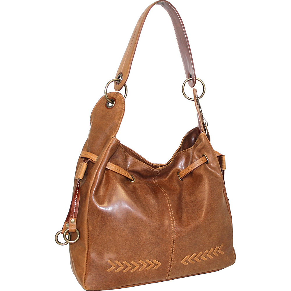 Nino Bossi Sylvie Shoulder Bag Saddle - Nino Bossi Leather Handbags - Handbags, Leather Handbags