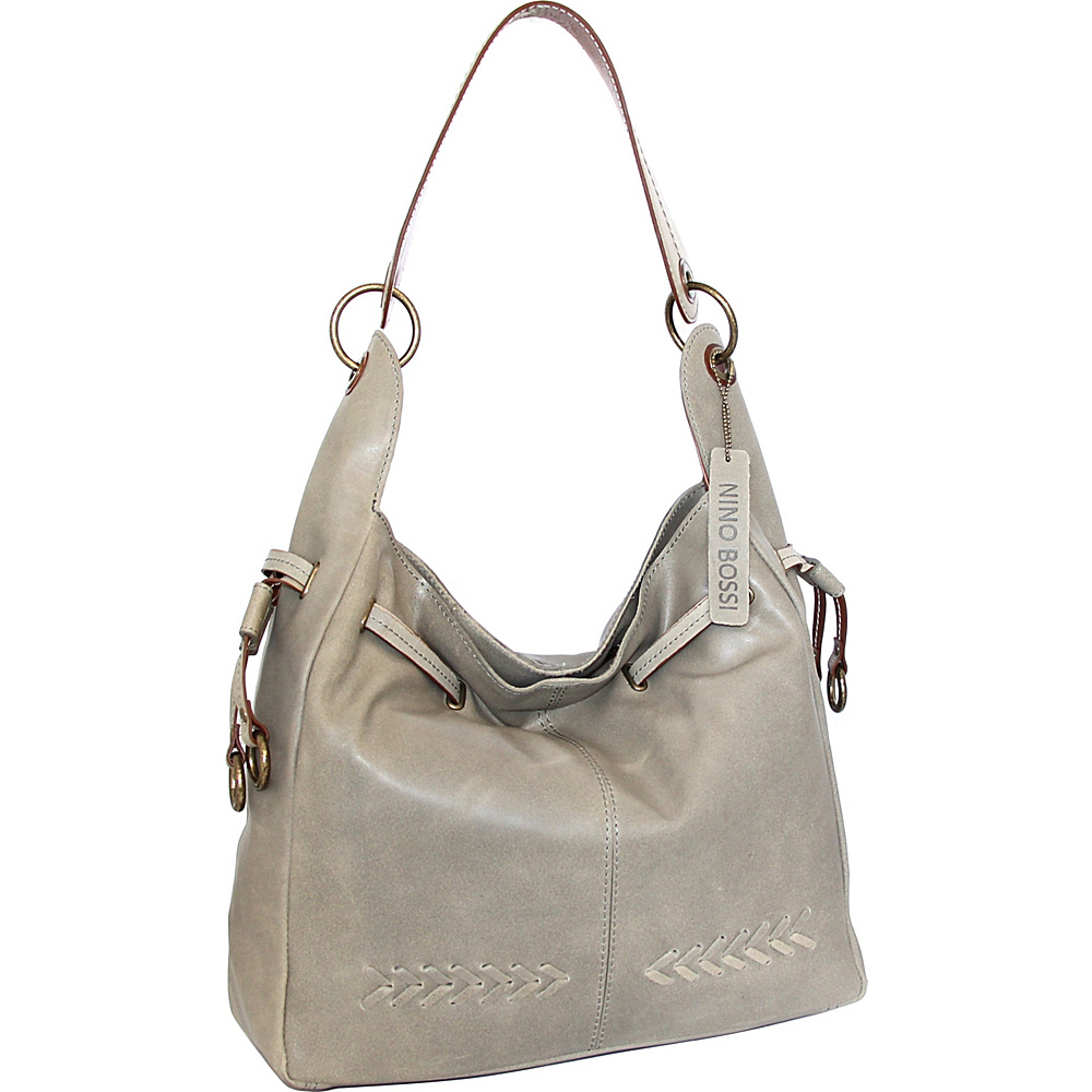 Nino Bossi Sylvie Shoulder Bag Stone - Nino Bossi Leather Handbags - Handbags, Leather Handbags
