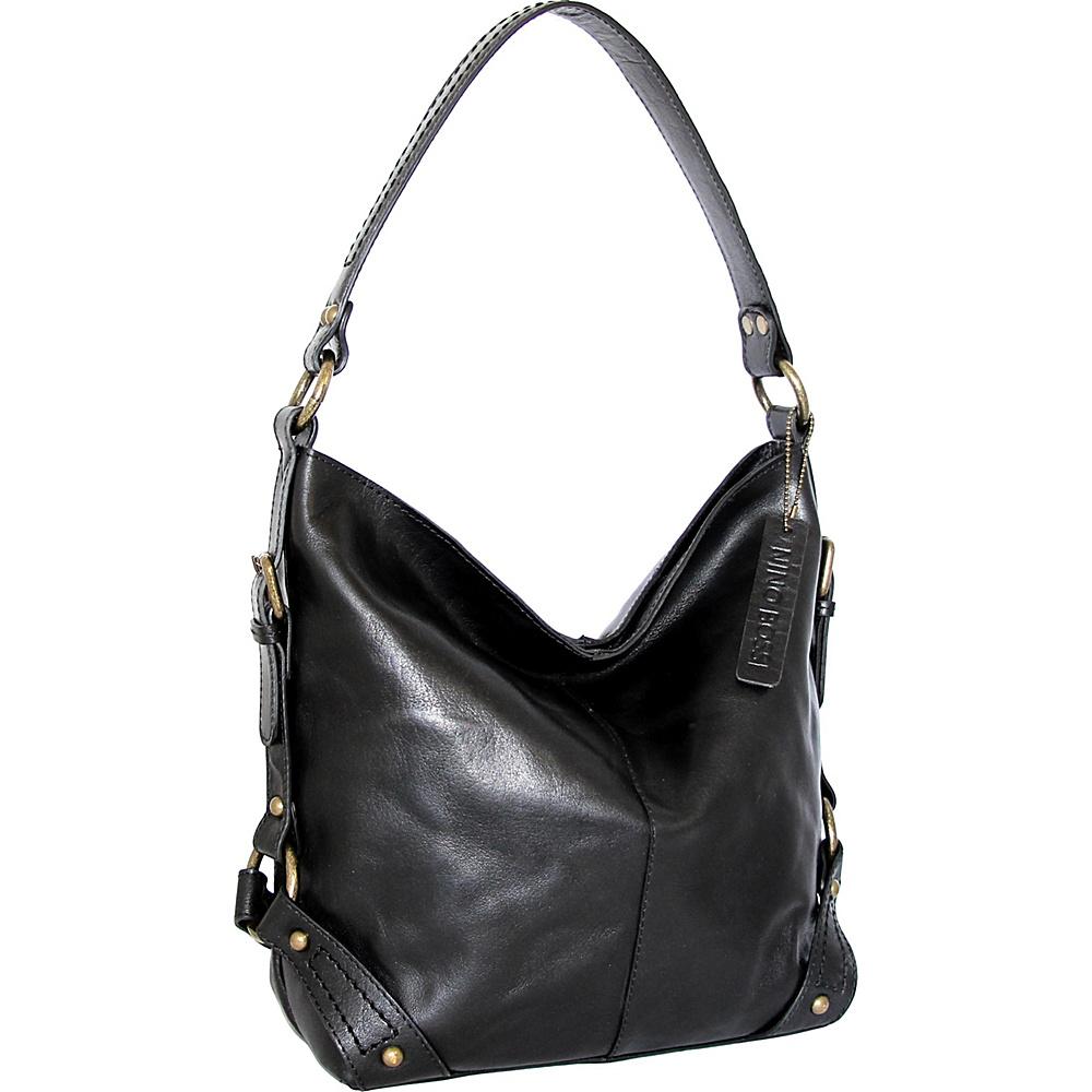 Nino Bossi Vivian Bucket Bag Black - Nino Bossi Leather Handbags - Handbags, Leather Handbags