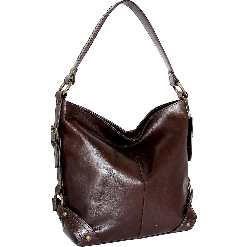 Nino Bossi Vivian Bucket Bag Chocolate - Nino Bossi Leather Handbags - Handbags, Leather Handbags