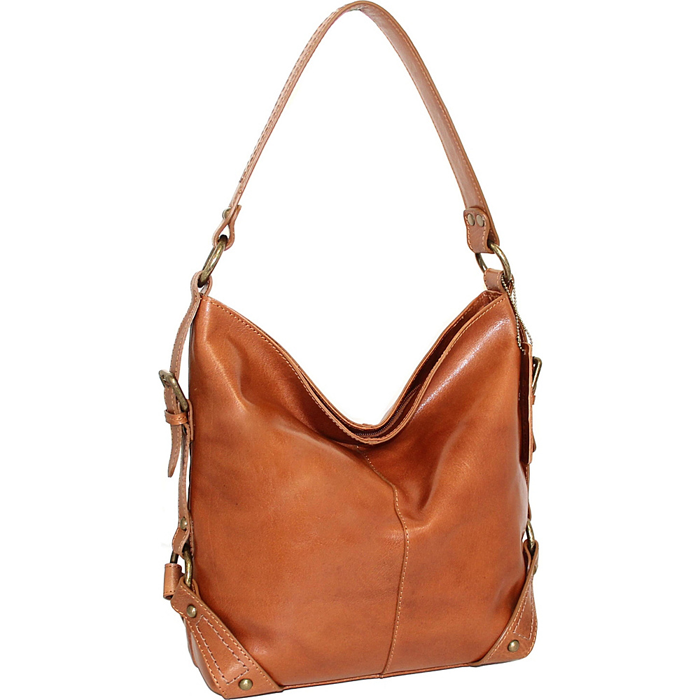Nino Bossi Vivian Bucket Bag Cognac - Nino Bossi Leather Handbags - Handbags, Leather Handbags