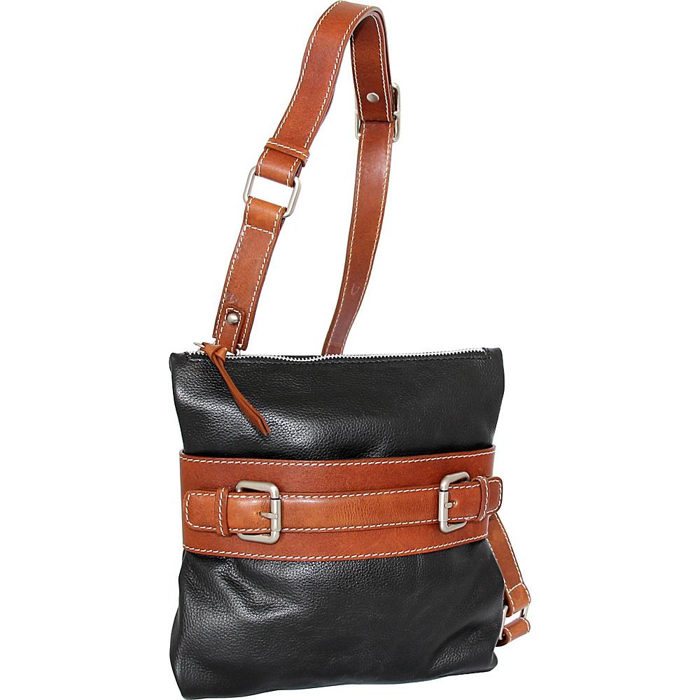 Nino Bossi Delanie Crossbody Bag Black - Nino Bossi Leather Handbags - Handbags, Leather Handbags