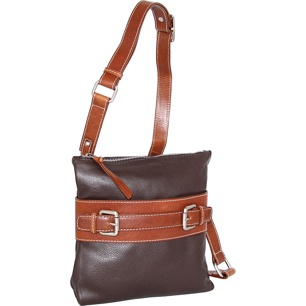 Nino Bossi Delanie Crossbody Bag Chocolate - Nino Bossi Leather Handbags - Handbags, Leather Handbags