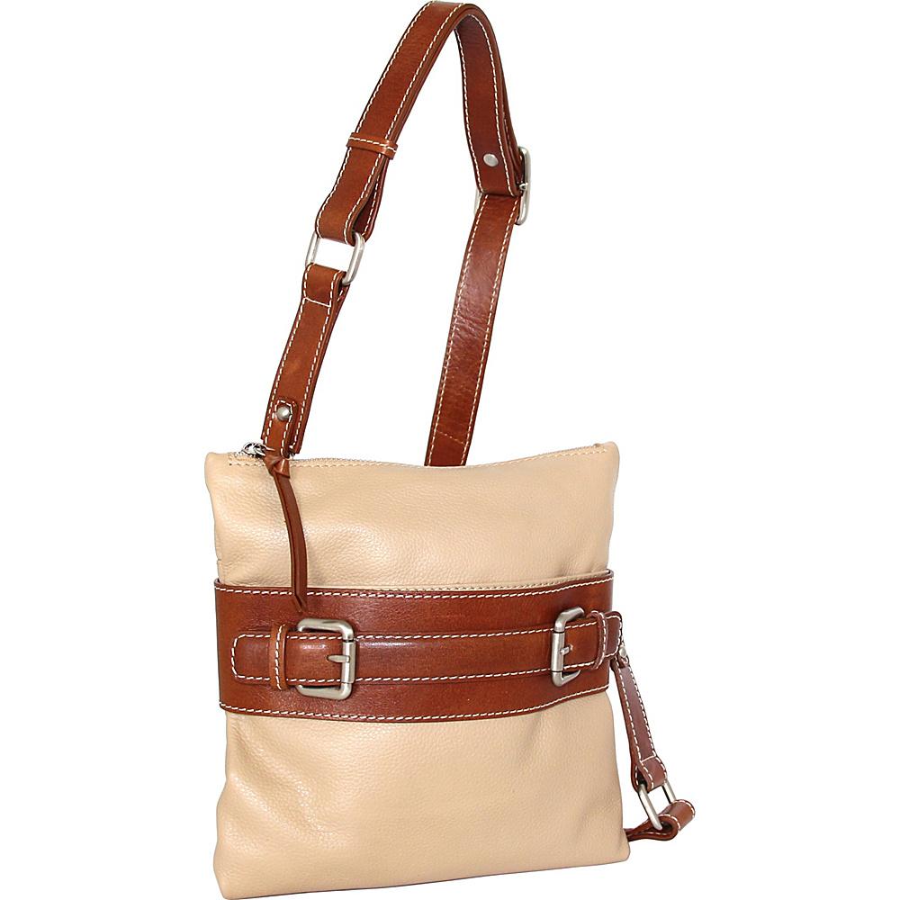 Nino Bossi Delanie Crossbody Bag Sand - Nino Bossi Leather Handbags - Handbags, Leather Handbags
