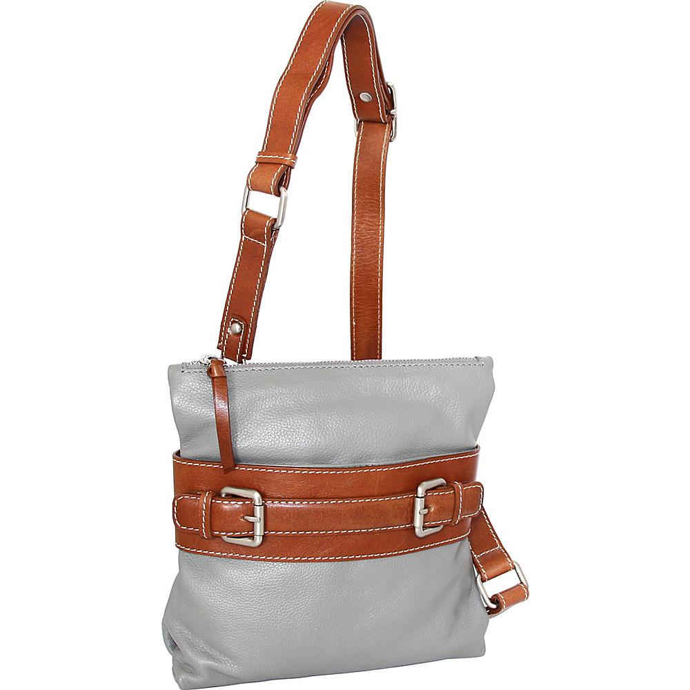 Nino Bossi Delanie Crossbody Bag Stone - Nino Bossi Leather Handbags - Handbags, Leather Handbags