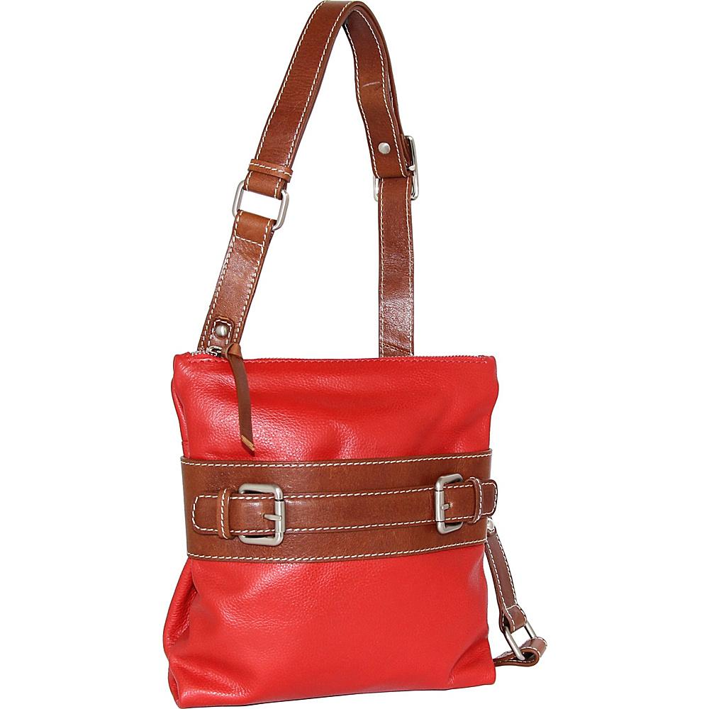 Nino Bossi Delanie Crossbody Bag Tomato - Nino Bossi Leather Handbags - Handbags, Leather Handbags
