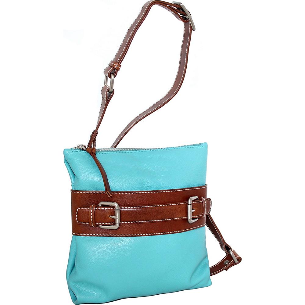 Nino Bossi Delanie Crossbody Bag Turquoise - Nino Bossi Leather Handbags - Handbags, Leather Handbags