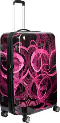 ful Atomic 20 inch Expandable Carry-On Hardside Spinner Luggage Pink - ful Hardside Carry-On