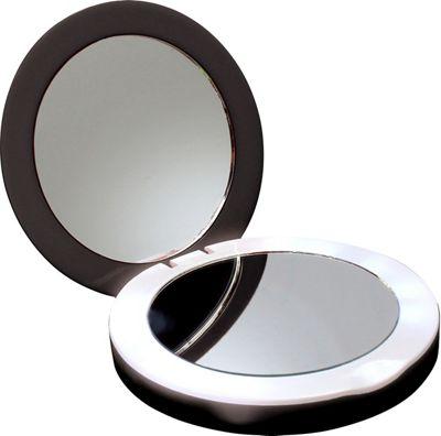 Digital Treasures PowerNow 3000mAH Compact Portable Charger Illuminated Makeup Mirror Black - Digital Treasures Portable Batteries & Chargers