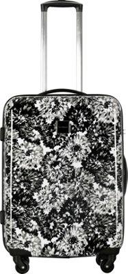 Isaac Mizrahi Boldon 26 inch Hardside Checked Spinner Luggage Black/White - Isaac Mizrahi Hardside Checked