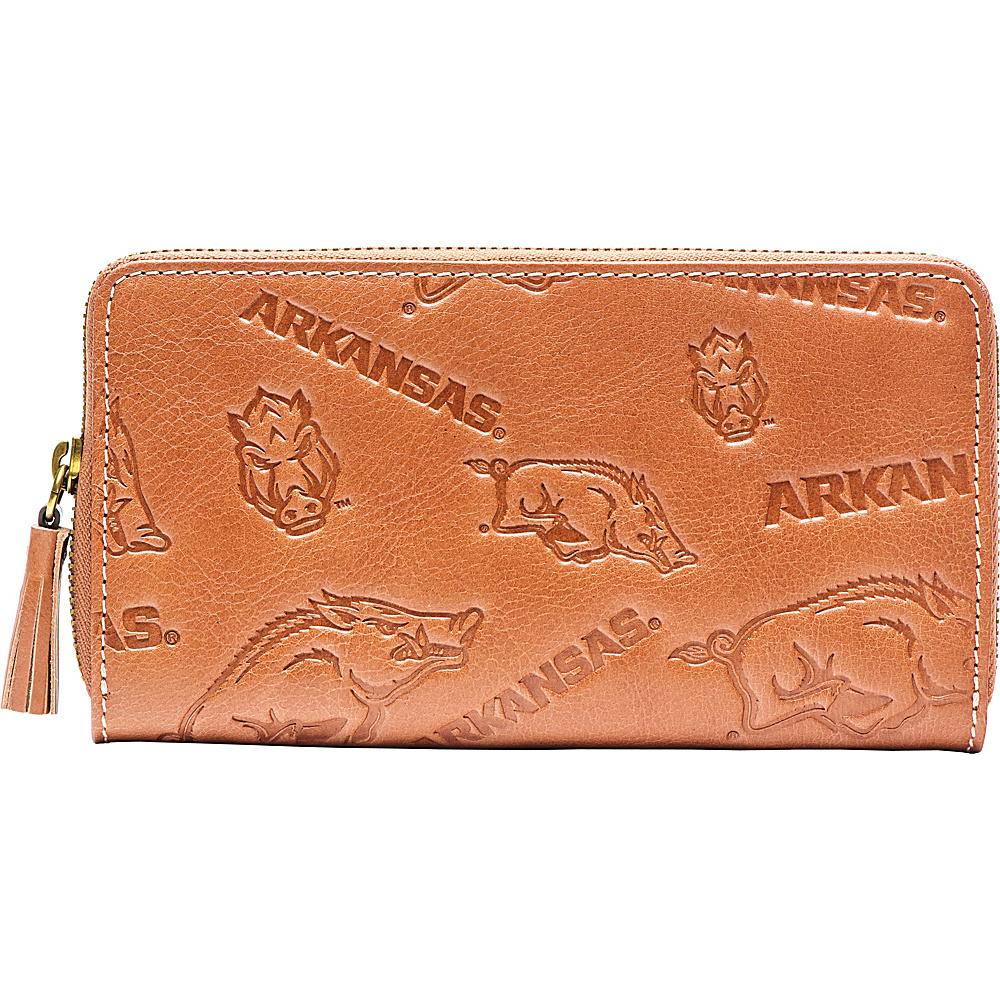 Jack Mason League NCAA Sideline Clutch Arkansas - Jack Mason League Leather Handbags - Handbags, Leather Handbags