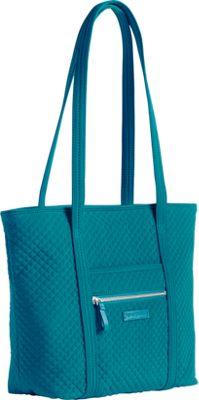 Vera Bradley Iconic Small Vera Tote - Solids Charcoal - Vera Bradley Fabric Handbags