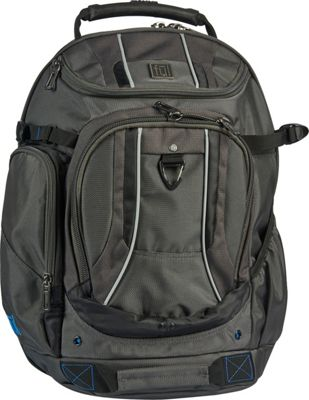 ful Free Load Factor Padded Laptop Backpack Black and Gray - ful Business & Laptop Backpacks