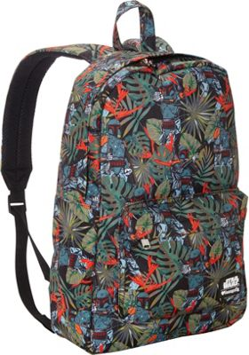 Loungefly Star Wars Boba Fett Bright Leaves Print Laptop Backpack Green