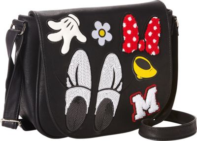 Loungefly Minnie Patches Crossbody Black/Red - Loungefly Manmade Handbags