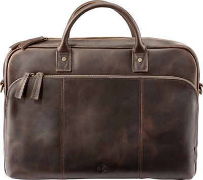 Timberland Wallets Tuckerman Leather Slim Laptop Briefcase Dark Brown - Timberland Wallets Non-Wheeled Business Cases