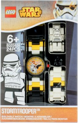 LEGO Watches Star Wars Stormtrooper Kids Minifigure Link Buildable Watch White/Black - LEGO Watches Watches