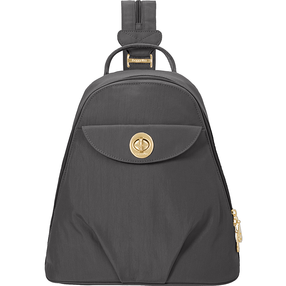 baggallini Dallas Convertible Backpack Charcoal - baggallini Fabric Handbags - Handbags, Fabric Handbags