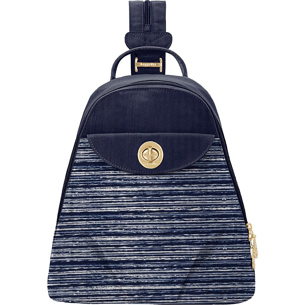 baggallini Dallas Convertible Backpack Horizon Stripe print - baggallini Fabric Handbags - Handbags, Fabric Handbags