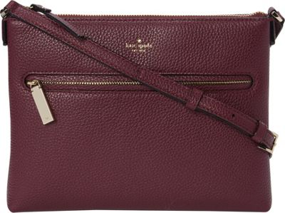 kate spade new york Hopkin Street Gabrielle Crossbody Plum - kate spade new york Designer Handbags