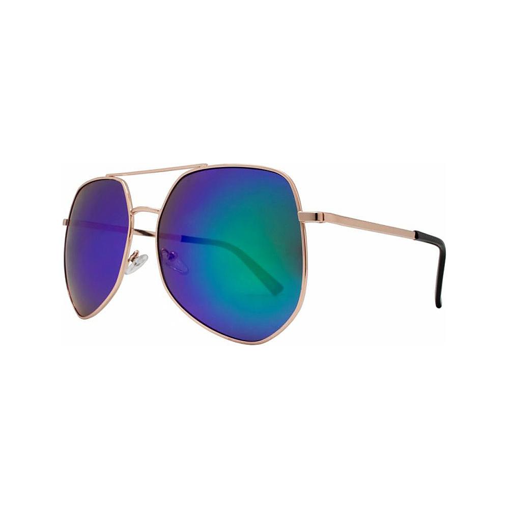 SW Global Oversized Geo Frame Fashion Aviator UV400 Sunglasses Blue - SW Global Eyewear - Fashion Accessories, Eyewear