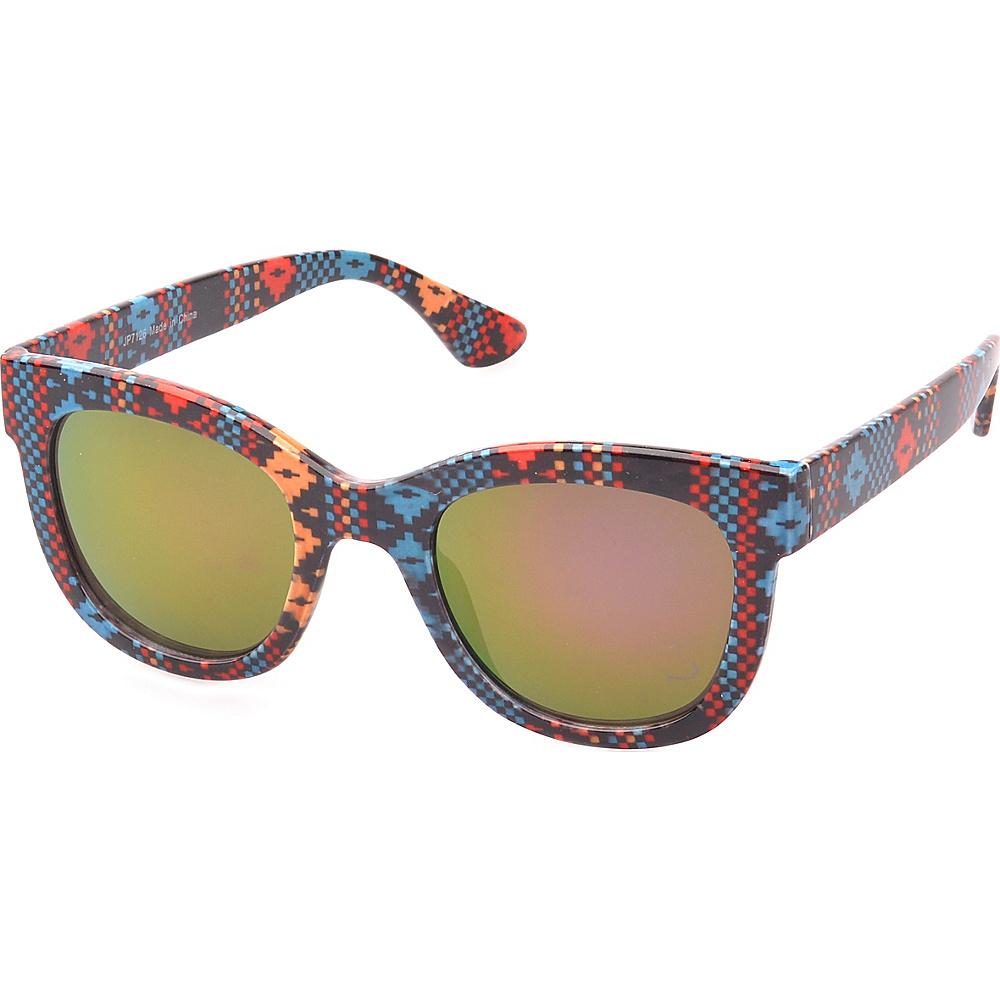 SW Global Easton Square Fashion Sunglasses Black-Red - SW Global Eyewear - Fashion Accessories, Eyewear