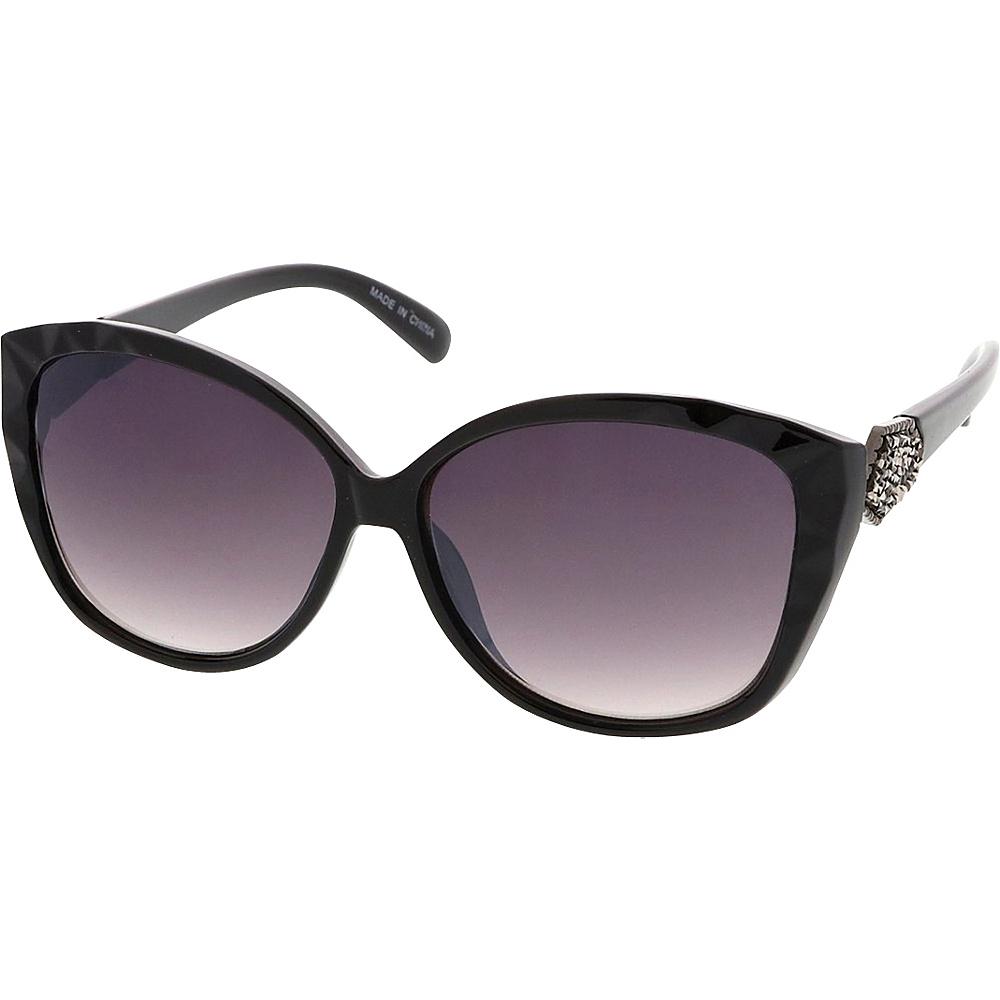 SW Global Womens Urban Fashion Geometric Frame Cat Eye Sunglasses Model 62 Black - SW Global Eyewear - Fashion Accessories, Eyewear