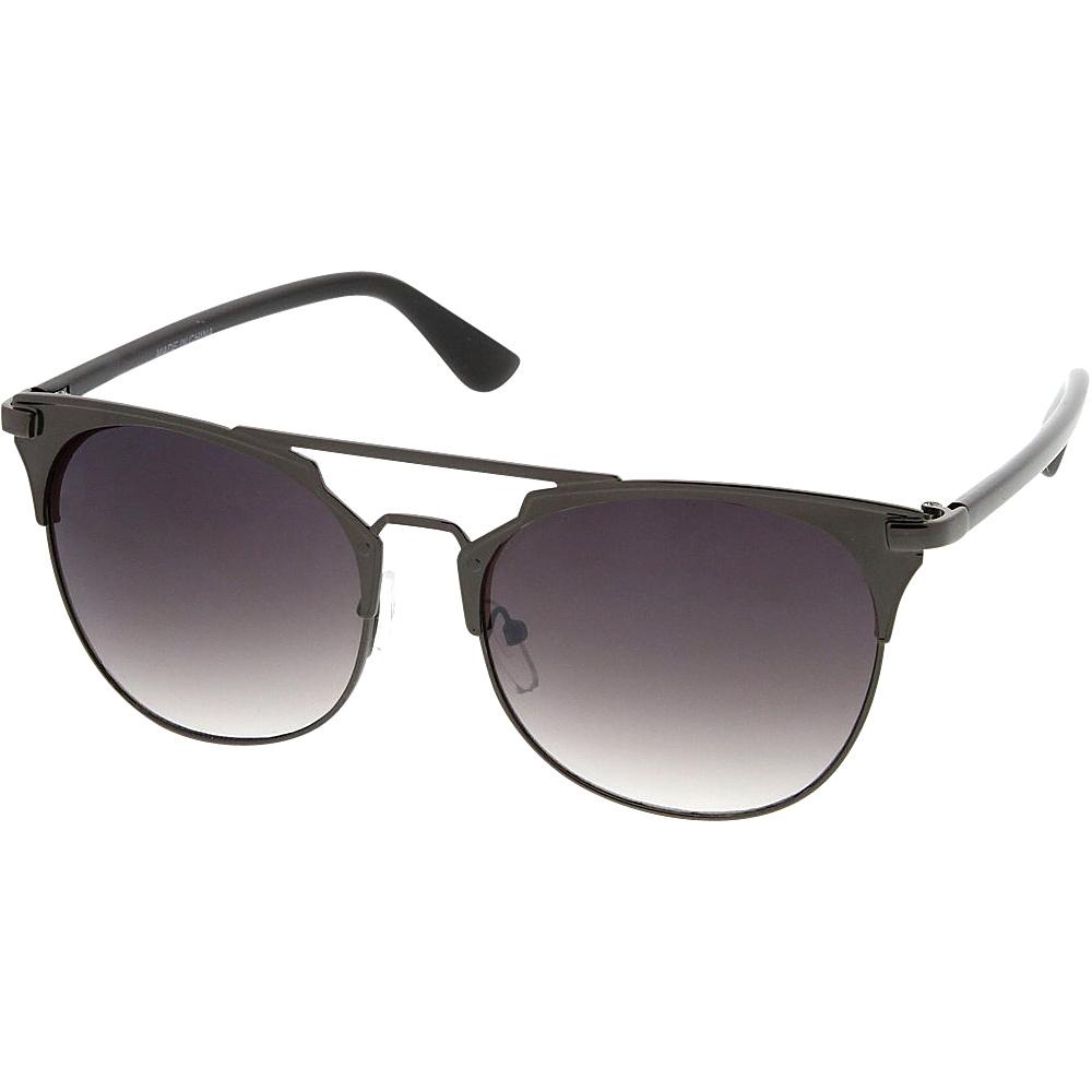 SW Global Womens Retro Fashion Flat Top Double Wire Sunglasses Black - SW Global Eyewear - Fashion Accessories, Eyewear