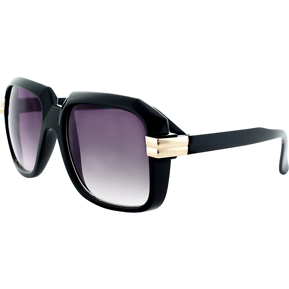 SW Global Retro Fashion Hiphop Legend DMC Style Oversized Square Frame UV400 Sunglasses Black Gold - SW Global Eyewear - Fashion Accessories, Eyewear