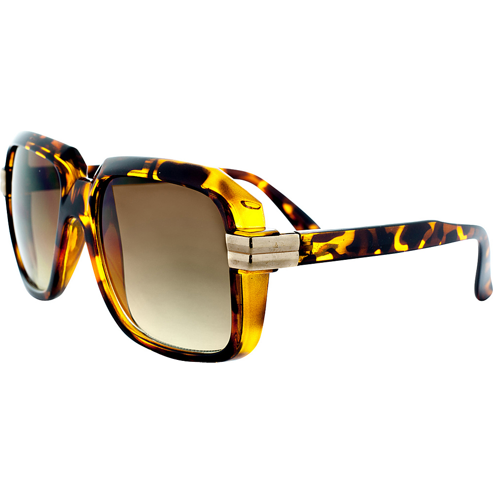 SW Global Retro Fashion Hiphop Legend DMC Style Oversized Square Frame UV400 Sunglasses Leopard - SW Global Eyewear - Fashion Accessories, Eyewear