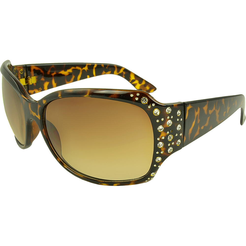 SW Global Rosen Rhinestone Oval Fashion Sunglasses Leopard - SW Global Eyewear - Fashion Accessories, Eyewear