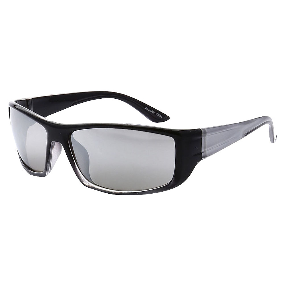 SW Global Outdoors Sports Full Square Framed UV400 Sunglasses Black Silver Silver - SW Global Eyewear - Fashion Accessories, Eyewear