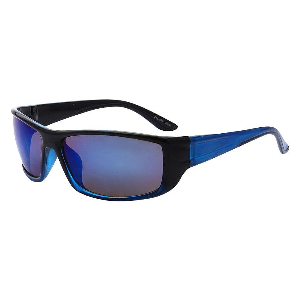SW Global Outdoors Sports Full Square Framed UV400 Sunglasses Blue Blue - SW Global Eyewear - Fashion Accessories, Eyewear
