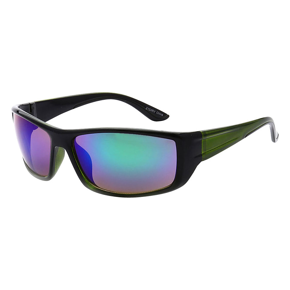 SW Global Outdoors Sports Full Square Framed UV400 Sunglasses Green Purple Blue Green - SW Global Eyewear - Fashion Accessories, Eyewear