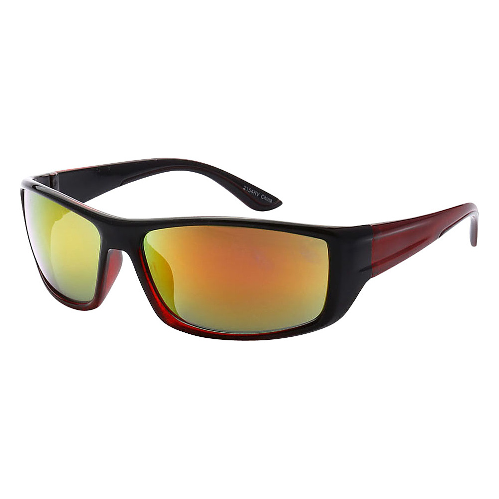 SW Global Outdoors Sports Full Square Framed UV400 Sunglasses Red Yellow Orange - SW Global Eyewear - Fashion Accessories, Eyewear