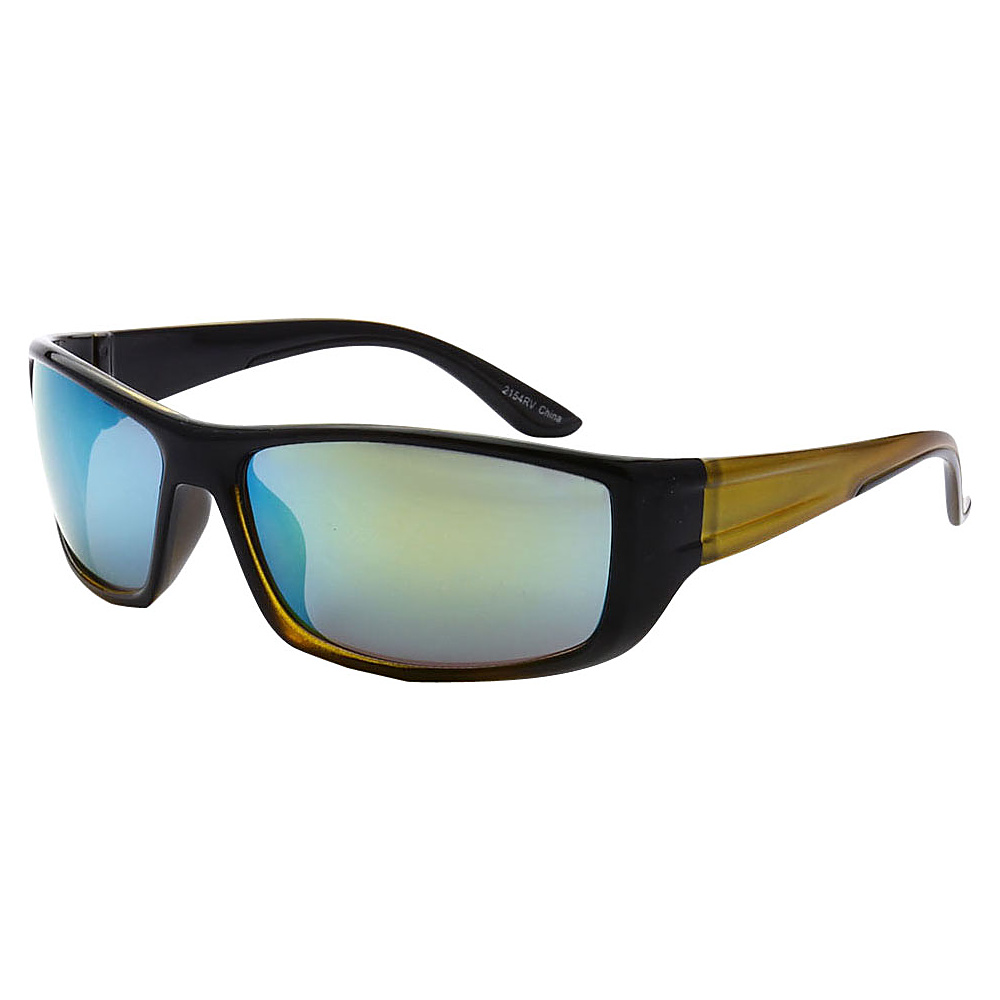 SW Global Outdoors Sports Full Square Framed UV400 Sunglasses Yellow Blue Green - SW Global Eyewear - Fashion Accessories, Eyewear