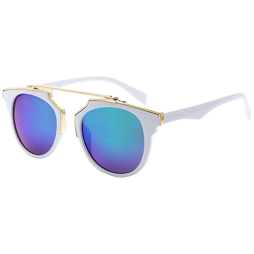 SW Global Modern Bi-color Flat Brow Bar Fashion Aviator Sunglasses Blue - SW Global Eyewear - Fashion Accessories, Eyewear
