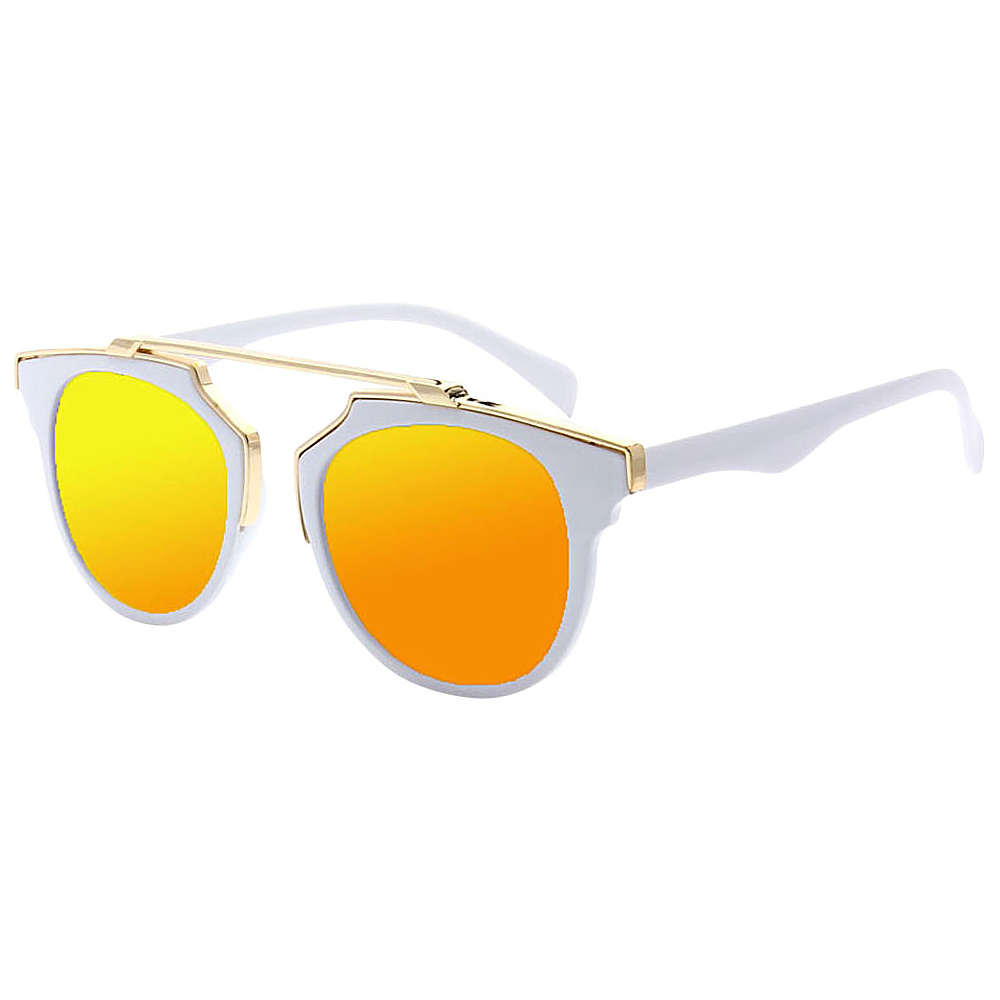 SW Global Modern Bi-color Flat Brow Bar Fashion Aviator Sunglasses Yellow - SW Global Eyewear - Fashion Accessories, Eyewear