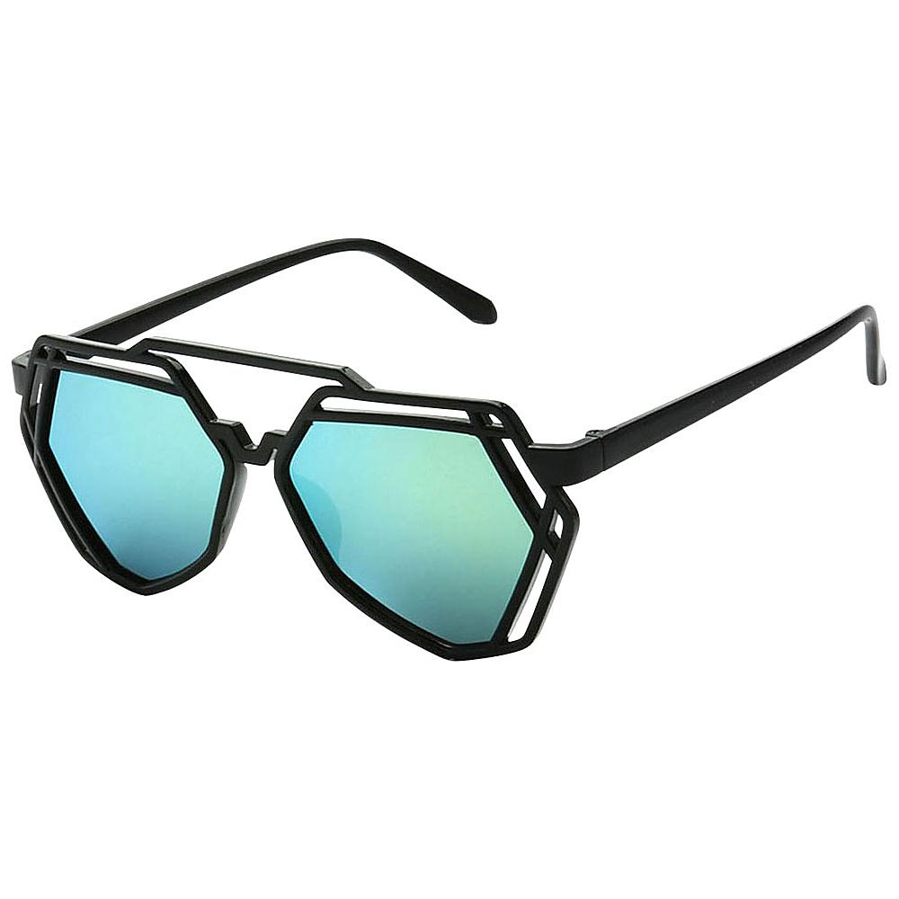 SW Global Modern Bi-color Flat Brow Bar Fashion Aviator Sunglasses Green - SW Global Eyewear - Fashion Accessories, Eyewear