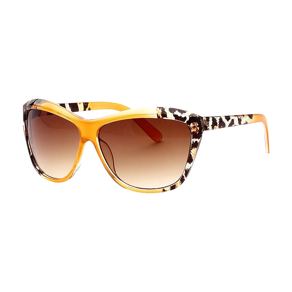SW Global Trendy Animal Safari Outdoor UV400 Sunglasses Yellow Leopard Amber - SW Global Eyewear - Fashion Accessories, Eyewear