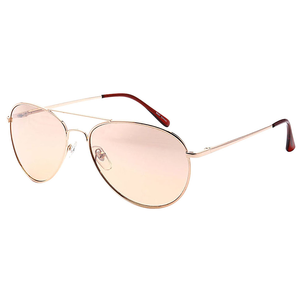 SW Global Ultra Light Weight Sport Aviator UV400 Sunglasses Gold Pink - SW Global Eyewear - Fashion Accessories, Eyewear