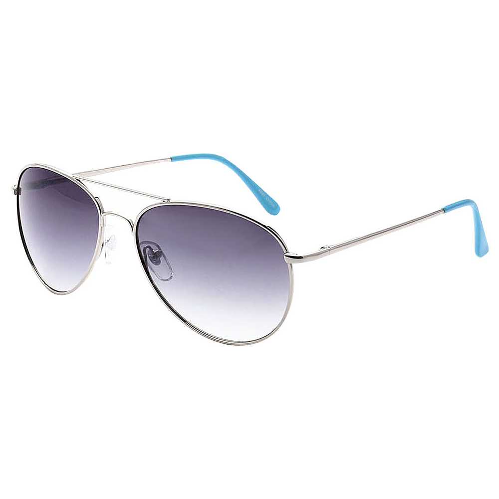 SW Global Ultra Light Weight Sport Aviator UV400 Sunglasses Silver Blue Gradient - SW Global Eyewear - Fashion Accessories, Eyewear