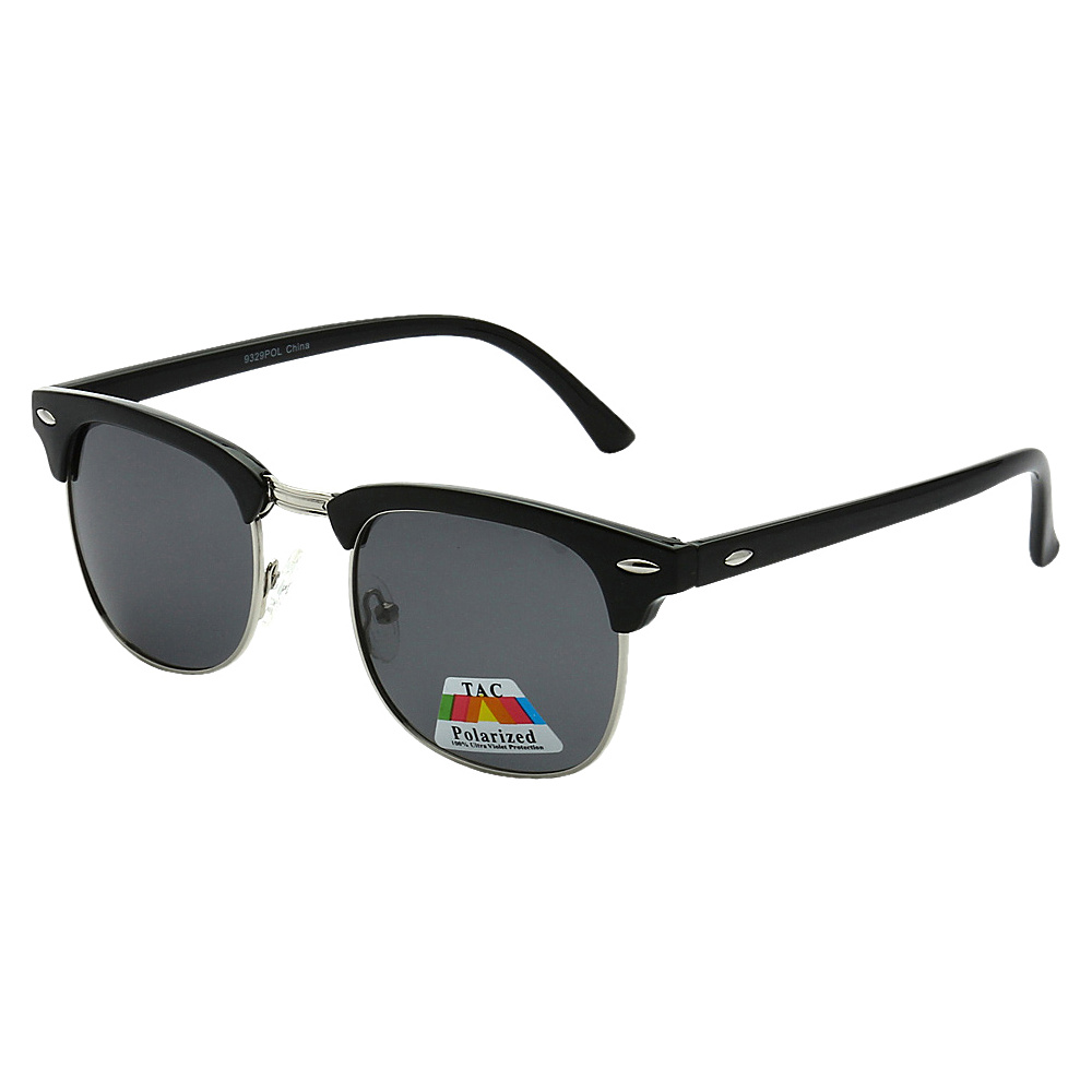 SW Global Polarized Retro Party Clubber UV400 Sunglasses Black Black - SW Global Eyewear - Fashion Accessories, Eyewear