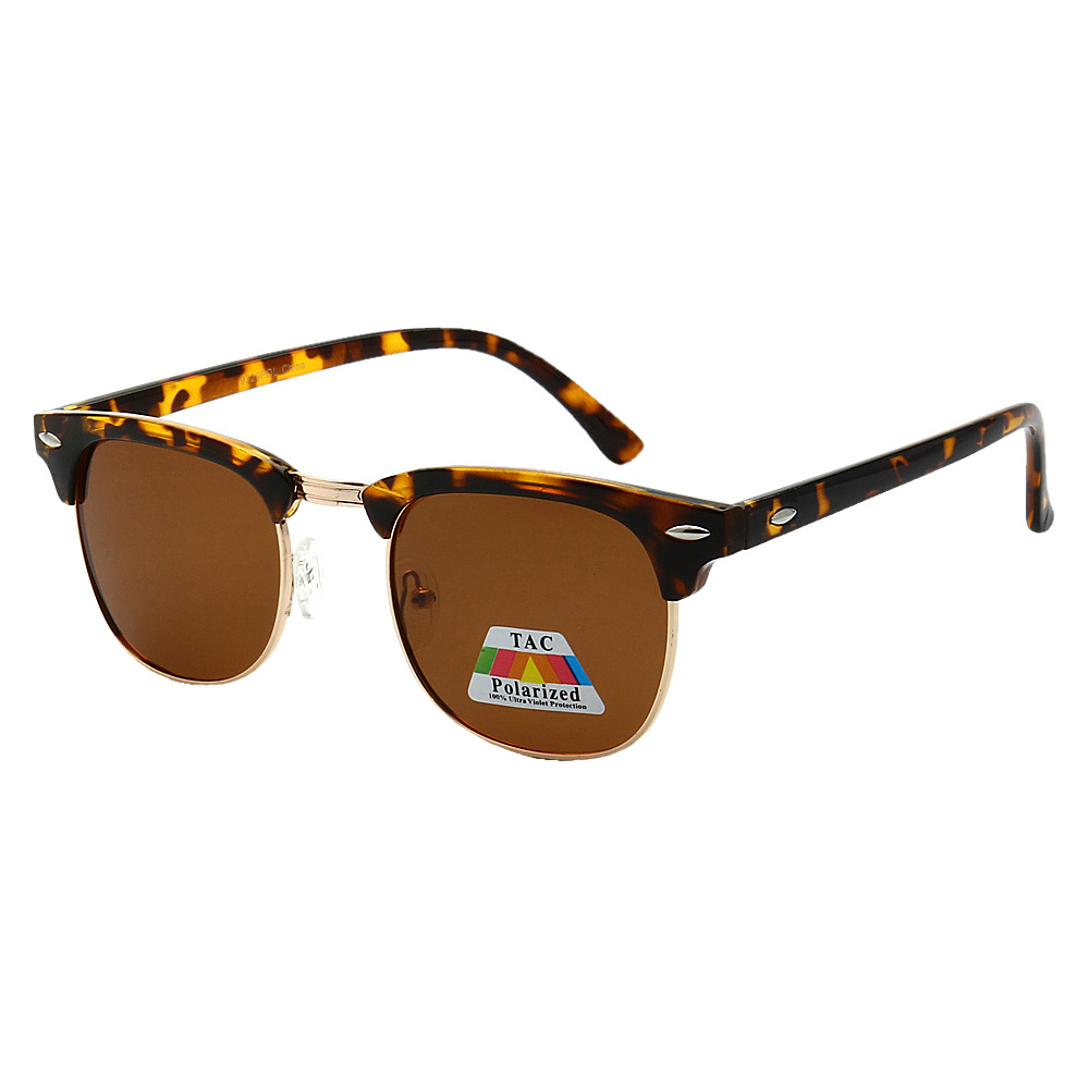 SW Global Polarized Retro Party Clubber UV400 Sunglasses Leopard Brown - SW Global Eyewear - Fashion Accessories, Eyewear