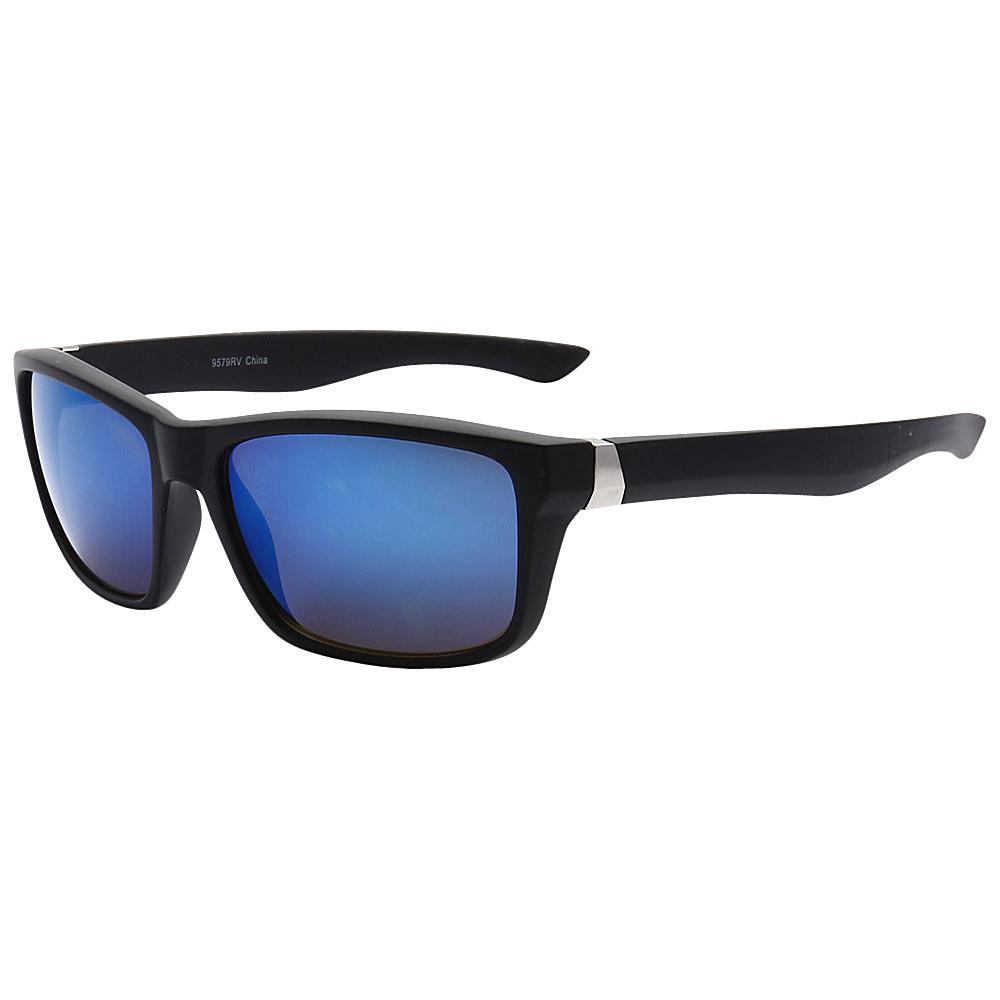 SW Global Sporty Retro Durable Full Frame Retro Square UV400 Sunglasses Black Blue - SW Global Eyewear - Fashion Accessories, Eyewear