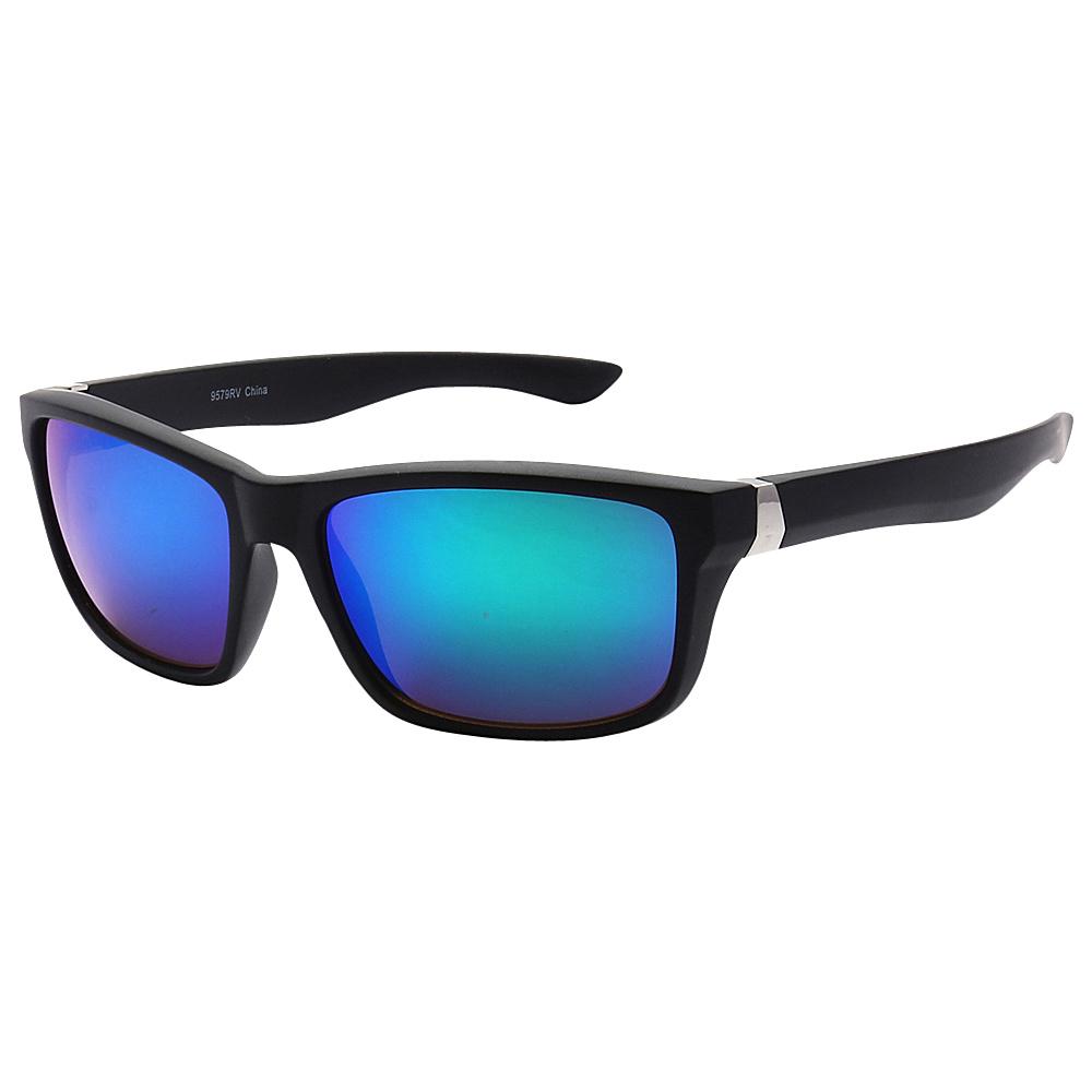 SW Global Sporty Retro Durable Full Frame Retro Square UV400 Sunglasses Black Blue Purple - SW Global Eyewear - Fashion Accessories, Eyewear